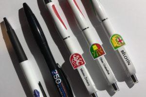 Reference reklamní propisky s barevným logem - UV tisk, Kometa, Obec, Město
