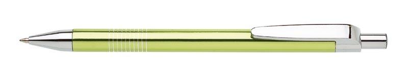 kovová propiska LAURIA světle zelená