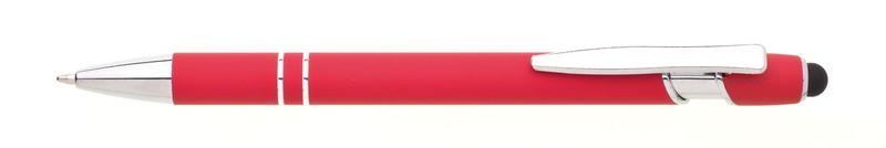 kovová propiska NATIO SOFT červená