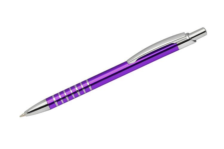 kovová propiska RING fialová