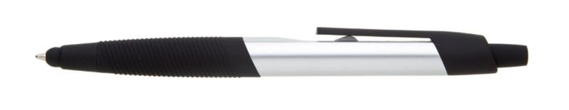 plastová propiska TOCCA stříbrná, černé doplňky